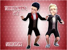 Sims 4 | Toddler Vampire Suit #georgiaglm bg compatible CAS clothing fullbody male formal