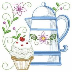 Tea Time Blocks 2 05(Sm) machine embroidery designs Machine Embroidery Patterns, Applique Patterns, Hand Embroidery Designs, Applique Designs, Quilting Designs, Embroidery Ideas, Dish Towel Embroidery, Vintage Quilts, Fabric Painting