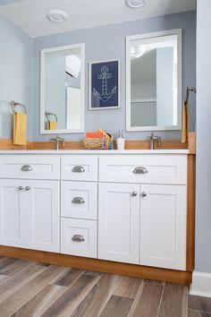Kid's Bathroom Pictures From DIY Network Blog Cabin 2016 >> http://www.diynetwork.com/blog-cabin/2016/kids-bathroom-pictures-from-diy-network-blog-cabin-2016-pictures?soc=pinterest