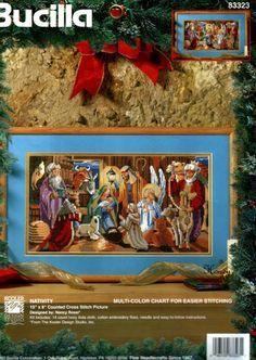 Gallery.ru / Фото #1 - ***** - celita Cross Stitch Stocking, Easy Stitch, Religious Cross, Cross Stitch Pictures, Christmas Embroidery, Holy Night, Christmas Cross, Picture Design, Cross Stitch Embroidery