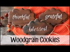 How to Make Woodgrain Decorated Cookies - YouTube