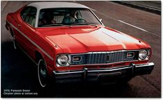 Except for the color (ours was Green) this was my 1st car~  a '76 Gold Duster~  until my boyfriend (now husband) bought it in 1978