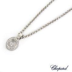 Chopard 18k white gold happy diamonds happy amore pendant 797219 a classic chopard happy diamonds pendant the oval shape pendant is set with 18 diamonds aloadofball Images