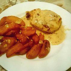 Kuřecí prsa v smetanovosýrové omáčce s americkými bramborami - Další rychlé a velmi chutné jídlo, inspirace na oběd, po které sadno sáhnete