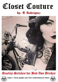 Pin Up & Rockabilly - Closet Couture by T Rodriguez. https://sites.google.com/site/closetcouture0/   Quality Stitches for Bad Ass Bitches. Closet Couture by T Rodriguez. Hot & Cheap Biker Clothes & Jewelry for Men, Women, & Children. (biker chic, biker style, biker fashion, biker outfit, biker clothes, biker babe, biker lifestyle, biker look, outlaw, rings, lady biker, biker gear, motorcycle, skull, pinup, retro, vintage, pinup girl style, classic car, rat rod)