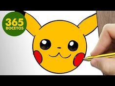 COMO DIBUJAR PIKACHU EMOTICONOS WHATSAPP KAWAII PASO A PASO - Dibujos kawaii fáciles - YouTube