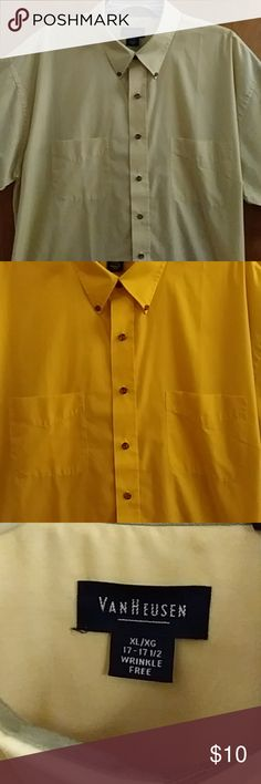 Selling this Men's Van Heusen Short Sleeve Shirt 17-17 1/2 on Poshmark! My username is: eddiej314. #shopmycloset #poshmark #fashion #shopping #style #forsale #Van Heusen #Other