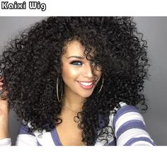 Afro Kinky Wigs for Black Women Long Kinky Curly Synthetic African American Wigs Kinky Curly Synthetic Black Wig *** Click the image to visit the website