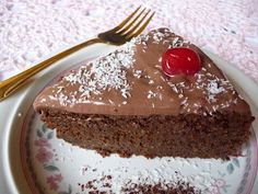 A slice of the Chocolate Zucchini Cake via low-carb-news.blogspot.com  I'm going to make this as have plenty of zuchinni growing... A
