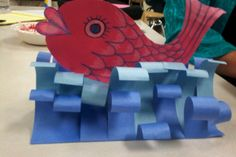 "Art With Mr. E: PD Day Projects: ""The Pout Pout Fish"" Inspired Craft Wars - Calculating Infinity Bible Crafts, Kids Crafts, Arts And Crafts, 2nd Grade Art, Creation Art, Ocean Crafts, Wave Art, Kindergarten Art, Preschool"