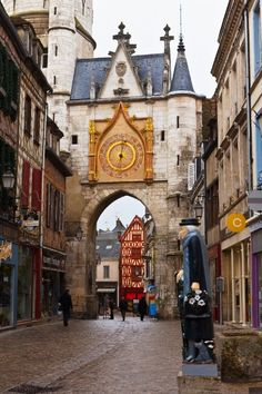 The medieval town of Auxerre, in the Bourgogne,France