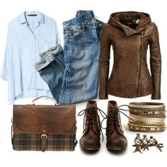 Warm autumn in blue and brown