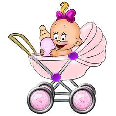 Dibujos. Clipart. Digi stamps - Baby Girl - Bebé niña