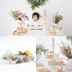 Smash Cake Girl, Birthday Cake Smash, First Birthday Cakes, Girl First Birthday, Princess Birthday, Baby Birthday, Birthday Bash, First Birthday Parties, Birthday Celebration