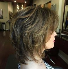 60 Best Variations of a Medium Shag Haircut for Your Distinctive Style, Frisuren, Medium Brown Shag with Balayage. Medium Shag Haircuts, Short Shag Hairstyles, Shaggy Haircuts, Layered Haircuts, Haircut Medium, Braided Hairstyles, Bangs Hairstyle, Black Hairstyle, Teen Hairstyles