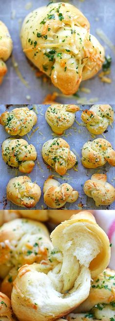 Garlic Parmesan Dinner Rolls – homemade bread dough turned into the best dinner rolls with garlic and Parmesan cheese. So good
