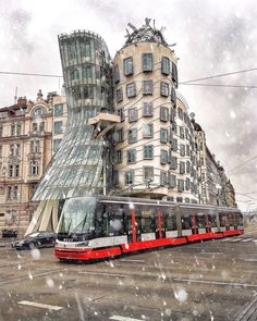 """The Nationale Nederlanden building, known as the """"Dancing House"""" or sometimes """"Fred and Ginger"""", is one of the most significant landmarks in Prague and definitely the most internationally renowned piece of post-1989 Czech architecture."""