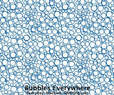 Bubbles Free Motion Quilting Pattern