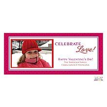 celebrate love. valentine's day card.