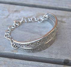 silverware jewelry, spoon jewelry, silverware art, fork bracelet, bracelet by SennaDesigns on Etsy