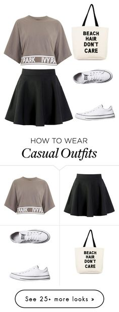 """Casual"" by symfb on Polyvore featuring Topshop, Converse and Soma"