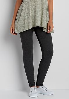 ultra soft legging in charcoal heather | maurices