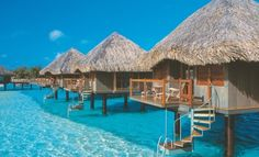 I have stayed in Tahiti and stayed in a bungalow but always wanted to stay in a Tahitian bungalow over the water.