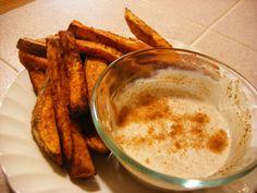 maple cinnamon dip for sweet potato fries