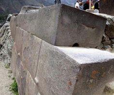 Ancient pre-Incan granite found at Ollantaytambo, Peru.