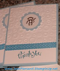 Baby Thank you cards - Yay for retired Stampin' Up! product