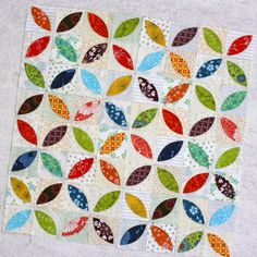 Orange Peel Mini Quilt and a Quilt Along!