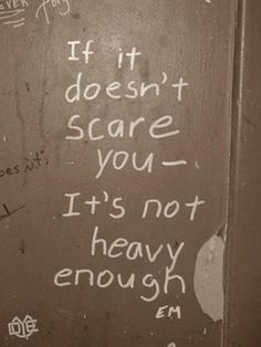 Repinned this for my husband... who tries to get me to face my fears at the gym!