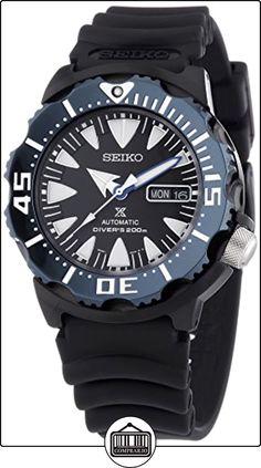 Seiko Automatic Divers - Reloj Analógico de Automático para Hombre, correa de Plástico color Negro de  ✿ Relojes para hombre - (Gama media/alta) ✿