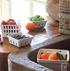 Roost farmers market baskets $13-25 -  I love ceramics that look like to go containers. LOVE.