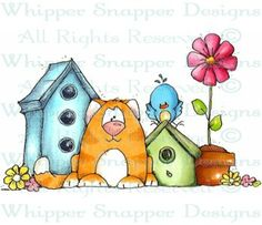 Neighborhood Welcome - Birds - Animals - Rubber Stamps - Shop