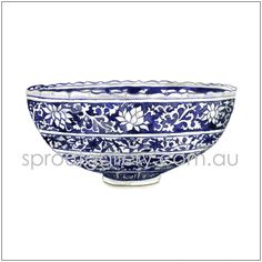 Blue and white china bowl limited edition watercolour print.. $25.00, via Etsy.