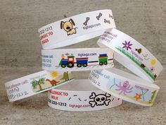 ID bracelets for kids set of 17 by TigTagz on Etsy, $13.99