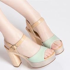 Color-Block High Heel Sandals from #YesStyle