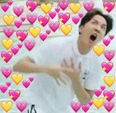 Make your own stickers for WhatsApp and iMessage Bts Meme Faces, Funny Faces, Hoseok, Jhope, Bts Emoji, Bts Cute, K Meme, Heart Meme, Cute Love Memes