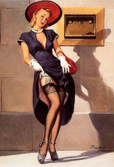 Socking it Away_Gil Elvgren, 1949