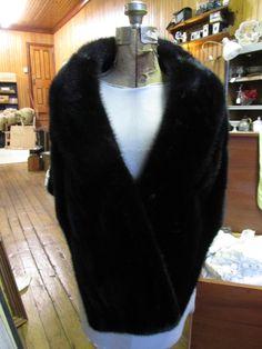 Vintage Authentc Mink Stole Black Fook Lee Fur Company Hong Kong #FookLeeFurCo #Stole