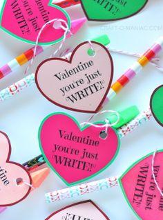 """""""Valentine You're Just WRITE!"""" #candyfreevalentines"""