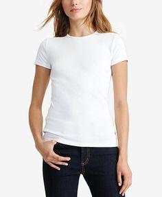 Lauren Ralph Lauren Short-Sleeve Crew-Neck Tee | macys.com