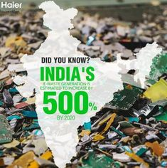 According to the UN University's Global E-waste Monitor, India generated 2 million tonnes of E-waste in 2017, but processed only 0.036 million tonnes of it. Approximately 95% of E-waste ends up in the informal sector, leading to improper recycling and harm to the environment. At Haier India, we encourage you to register your end-of-life electronic products and appliances with authorized recycling companies from the formal sector. Kitchen Appliances Brands, Clean Technology, Postcard Template, Did You Know, Monitor, Finding Yourself, Encouragement, Environment