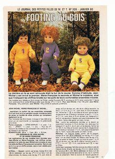 PAR AMOUR DES POUPEES :: M&T 1980-01 Footing au Bois (tricot)