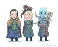 Chibi Game of throne by Janenonself - Game of Thrones Game Of Thrones Cartoon, Art Game Of Thrones, Dessin Game Of Thrones, Game Of Thrones Drawings, Game Of Thrones Funny, Cersei Lannister, Daenerys Targaryen, Khaleesi, Arya Stark