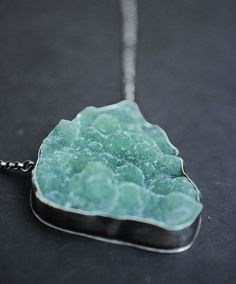 listen closely to me...prehnite in sterling silver necklace
