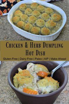 Chicken and Herb Dumplings (AIP)