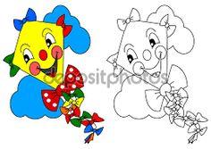 Resultado de imagen para imagenes para colorear con su imagen a color