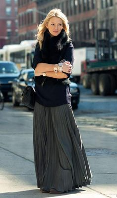 long skirt is always in style..<3